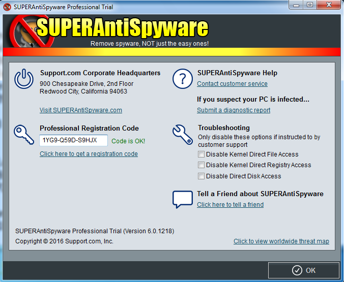 SUPERAntiSpyware 2018 For Windows, 7, 8, 10 + MAC