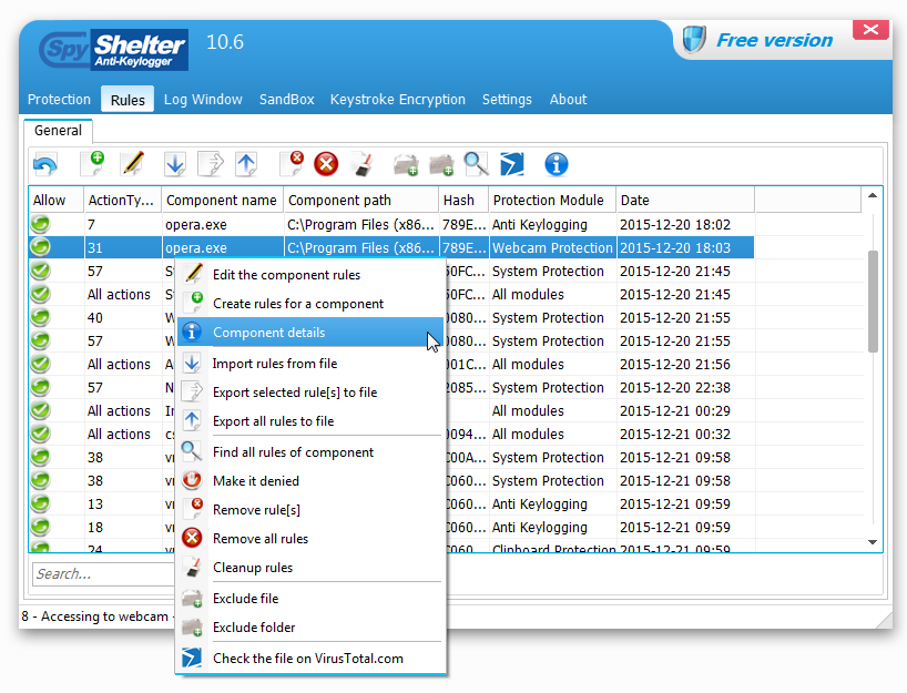 SpyShelter Free Anti-Keylogger 2018 Crack Patch + Serial Key Free Download