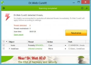 Dr.Web CureIt 2018 Crack Patch + Serial Key Free Download