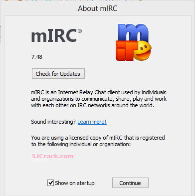 mIRC 7.52 Crack Plus Keygen Full Version Free Download 2018