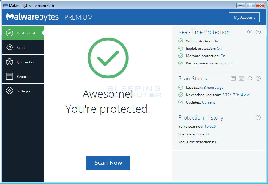 Malwarebytes Anti-Malware 2018 For Windows, 7, 8, 10 + MAC