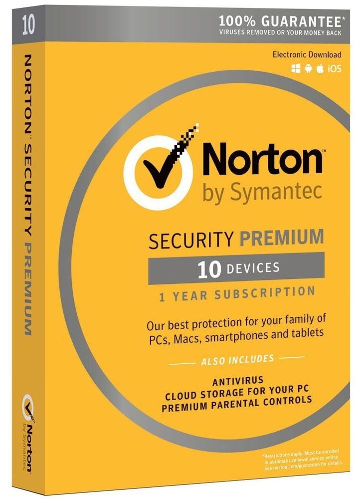 Norton Security Premium 2018 For Windows, 7, 8, 10 + MAC