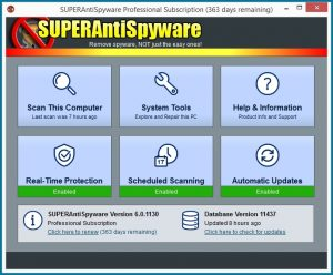 SUPERAntiSpyware Professional 2018 For Windows, 7, 8, 10 + MAC