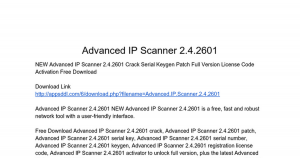 Advanced IP Scanner 2018 Crack Patch + Serial Key Free Download