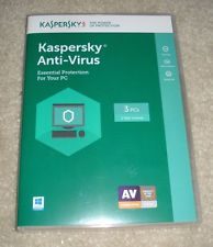 Kaspersky Anti-Virus 2018 For Windows, 7, 8, 10 + MAC